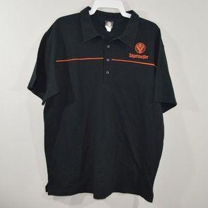 Jagermeister Mens Xl Short Sleeve Polo Shirt Black